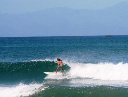 Surfing at Playa Hermosa