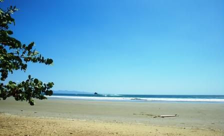 Surfing at Playa Hermosa, Nicaragua