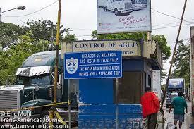 border crossing at Penas Blanca, Nicaragua, Central America