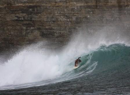 Surfing at Manzanillo Nicaragua