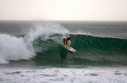Surfing at Playa Maderas