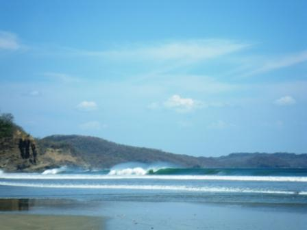 Surfing at Playa Hermosa
