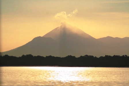 Volcano San Cristobal from Puesta del Sol Nicaragua