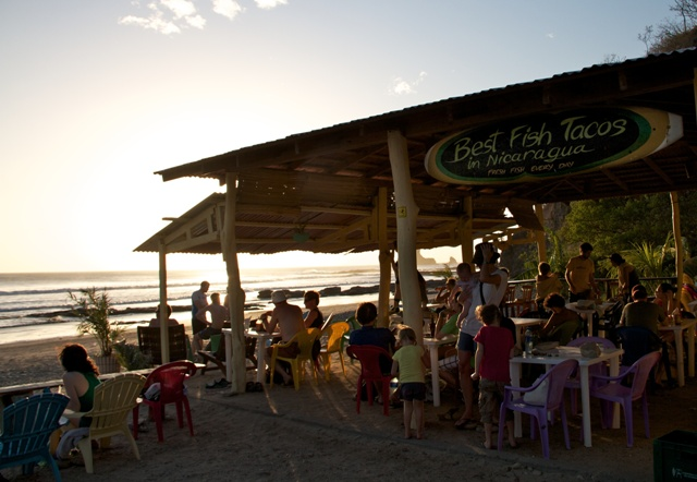 Taco Loco at Playa Maderas San Juan del Sur